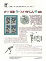 Official 1988 Winter Olympics USPS Commemorative Panel (CP309) - $4.30