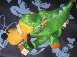 Rare Disney Store Pluto as Dinosaur Rex 18 inch Plush Stuffed Animal New. - $23.10