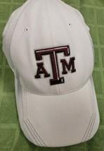 Texas A&M Football Adidas Hat Size S/M White Silver Trim (rc1) - $10.88