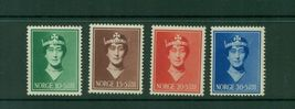 1939 Queen Maud Set of 4 Norway Postage Stamps Catalog Number B11-14 MNH