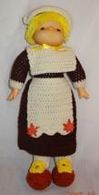 """New Pilgrim Girl Doll 18"""" Crochet Finished Complete Thanksgiving - $31.56"""