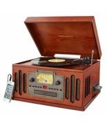 Crosley Entertainment Center AM/FM Radio CD Player Turntable Vintage Ret... - $200.87