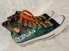 AQUAMAN Converse Chuck Taylor High Top Sneakers Mens Size 6 Women 8 NICE... - $89.99