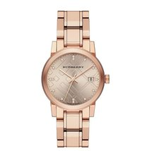 Burberry BU9126 The City Ladies Rose Gold Tone Watch - 34mm - $282.00