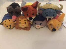"Disney TSUM TSUM Zootopia 3.5"" Mini Plush Lot 7 ct Nick Judy Lionheart - $24.74"