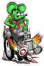 Rat Fink riding Hot Rod, Big Daddy Ed Roth Metal Sign - $49.95