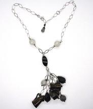 Silver 925 Necklace, Onyx, Mocha, Coffee Pot, Teapot, Pendants, Quartz Rutilated image 2