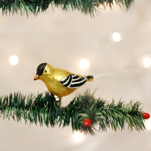 OLD WORLD CHRISTMAS WESTERN GOLDFINCH CLIP-ON GLASS CHRISTMAS ORNAMENT 1... - $8.88