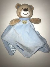 Baby Starters Security Baby Blanket I love mommy Blue Bear Rattle  - $14.50