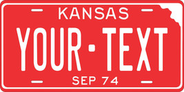 Kansas 1974 License Plate Personalized Custom Car Bike Motorcycle Moped ... - $10.99+