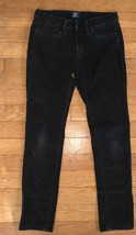 * gap kids black velour soft skinny straight leg pants sz 8 girl - $12.05