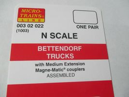 Micro-Trains Stock # 00302022 (1003)  Bettendorf Trucks Medium Extension N-Scale image 4
