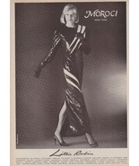 1983 Lillie Rubin Moroci Beaded Gown Sexy Blonde Vintage Fashion Print A... - $6.33