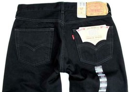 BRAND NEW LEVI'S 501 MEN'S BIG & TALL FIT STRAIGHT LEG JEANS BLACK 501-0660