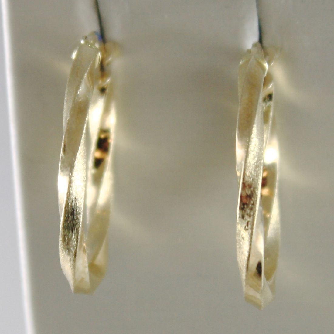YELLOW GOLD EARRINGS 750 18K IN CIRCLE, OVALS, TWISTED, TRANSPARENCIES AND SATIN