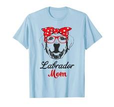 Dog Fashion - Funny Labrador Mom Wears Bandana & Glass Gift Shirt Men - $19.95+