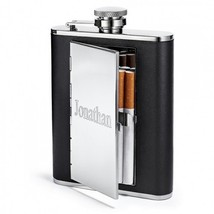 Top Shelf 6 oz Cigarette Case Hip Flask, Personalized - €20,13 EUR