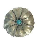 Vintage Revlon Jontue Pill Box Solid Perfume Compact Silvertoned Flower ... - $13.97