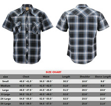 Men's Western Short Sleeve Button Down Casual Plaid Pearl Snap Cowboy Shirt image 2