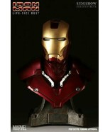 Iron Man Mk III Mark 3 Life-Size Bust  1:1 Scale  Sideshow Collectibles ... - $860.31