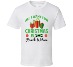 All I Want For Christmas Is Ramik Wilson Los Angeles R Football Fan T Shirt - $403,37 MXN+