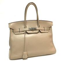 HERMES Birkin35 Women's Bag Hand Bag Tabac Camel SilverHardware VeauSwif... - $8,300.00
