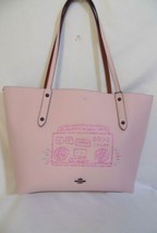 Coach Boombox Market Tote Pink Pebbled Leather KP888 $350 - $191.99