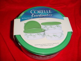 Corelle Callaway 6PC Storage Bowl Set New In Box Free Usa Shipping - $30.84