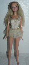 Mattel 2000's Barbie Doll in white dress made in Indonesia - $3.96
