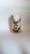 decorative woodland stag candle - $11.00