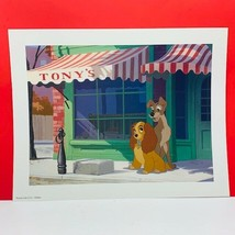 Walt Disney Store lithograph poster print litho 14X11 Lady and the Tramp... - $28.84