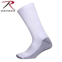 Rothco White Crew Socks With Cushion Sole - $4.98