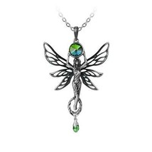 Alchemy Gothic P763  The Green Goddess Necklace Pendant - $59.37