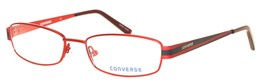 Converse Mens Ophthalmic Eyeglass Red Rectangle Metal Soundtrack - $35.99