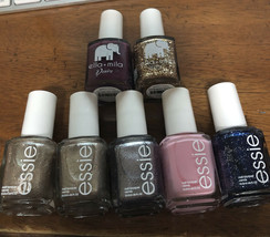 Essie Gel Couture Nail Polish + ella+ millie 6 Different Colors Lot Of 7... - $19.80