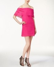 Kensie Womens Eyelet Off The Shoulder Short Pink Dress Size Small $89 - $16.82