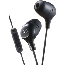 JVC(R) HAFX38MB Marshmallow Inner-Ear Headphones with Microphone (Black) - $37.81