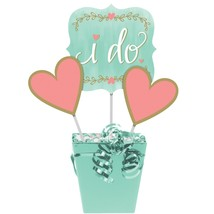 Mint To Be Centerpiece Sticks, Large : 6 x 6, Heart : 3 3/4 x 3 3/4, Sti... - £30.63 GBP