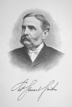 CHARLES SMITH New Jersey Born New York Banker & Merchant - 1895 Portrait... - $8.82
