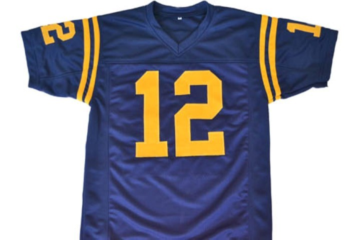 Roger Staubach #12 Navy Men Football Jersey Navy Blue Any Size
