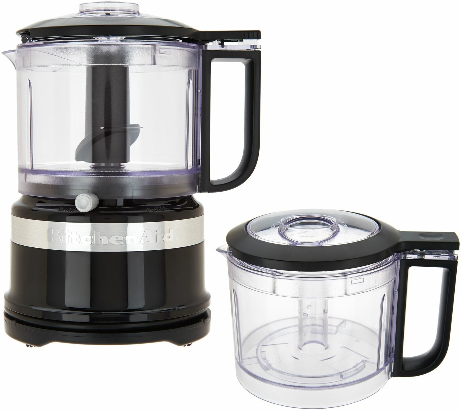 KitchenAid 3.5-Cup One-Touch 2-Speed Chopper w/ Extra Bowl  Black   BP4 - $96.99