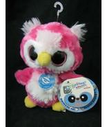 Yoohoo & Friends Loonee Snowy Owl Plush Pink Big Eye Sound Aurora Stuffe... - $11.85