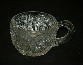 """Antique 1914 Broken Arches by Imperial Glass Ohio 2-1/4"""" Flat Punch Cup ... - $16.82"""