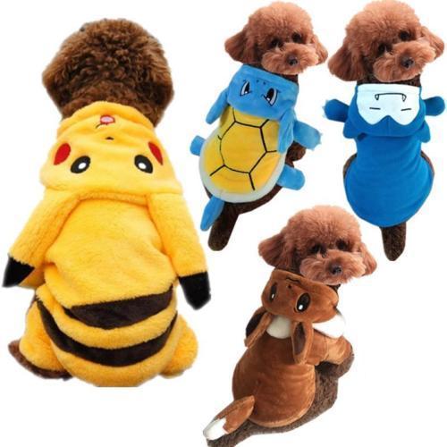 Animal Chien Chat Vêtements Costume Pokemon Go Pikachu Snorlax Avec Couvercle