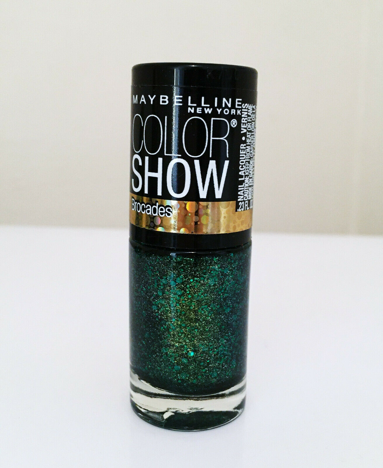 Maybelline Color Show Brocades Nail Lacquer Limited Edition 790 Emerald Elegance - $7.22
