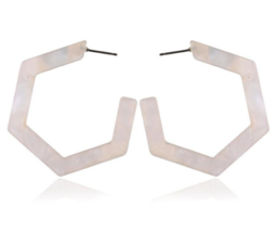 Super Sexy Oversized Big Hexagon Hoop Earrings Bijoux Geometric - $14.99