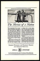 Telephone Linemen Workers Trunk Line 1926 Bell System Communications AD - $14.99