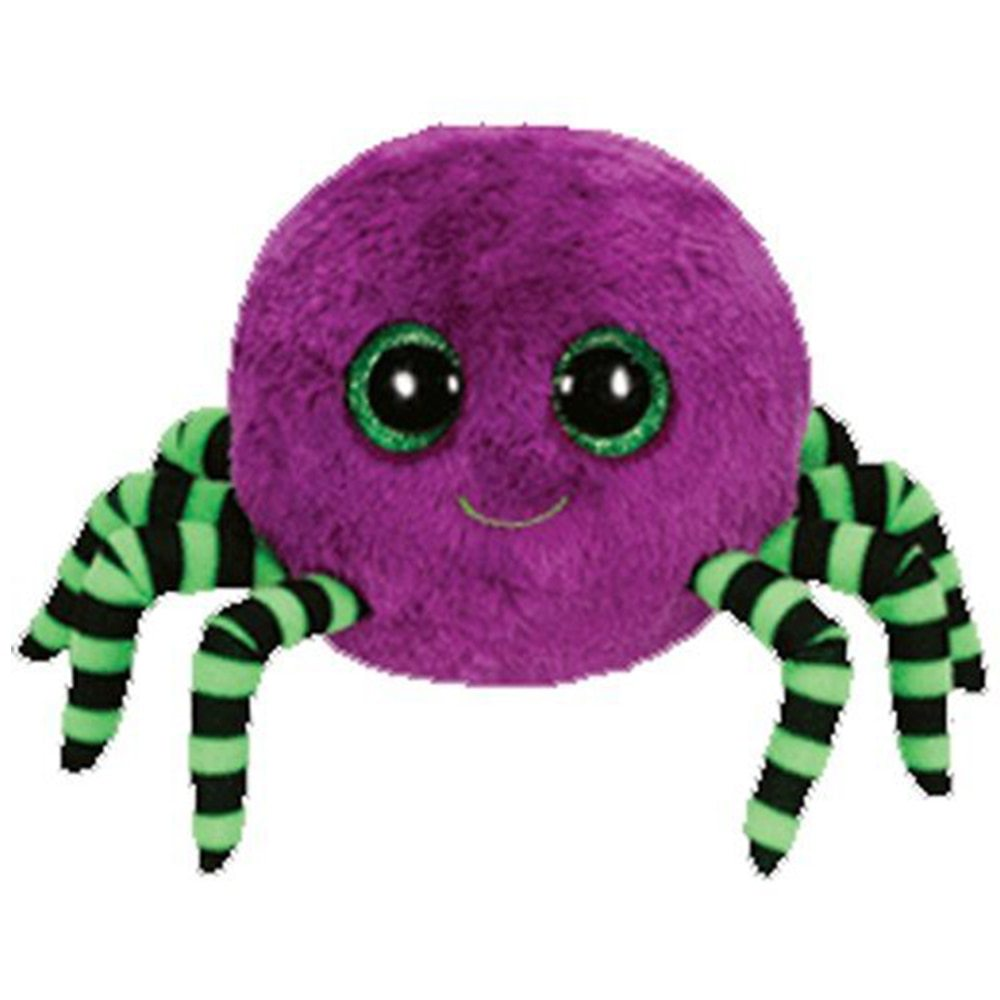 O ty boos 6 15cm crawly purple halloween spider plush regular stuffed animal collection doll toy