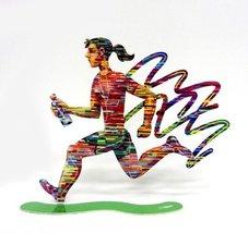 David Gerstein Jog Woman Run Female Metal Art Marathon Jogging Runner Sc... - $141.17
