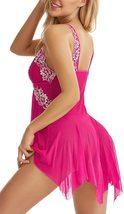 Lingerie for Women Front Closure Babydoll Lace Chemise V Neck Mesh Sleepwear 1 image 7
